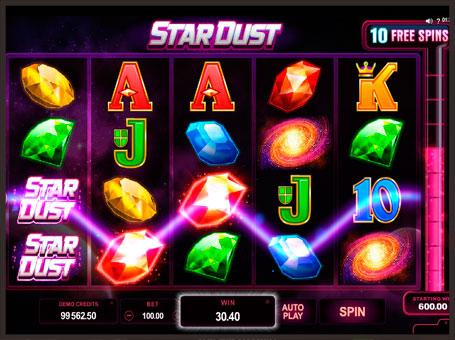 Виграшна комбінація в ігровому автоматі Star Dust