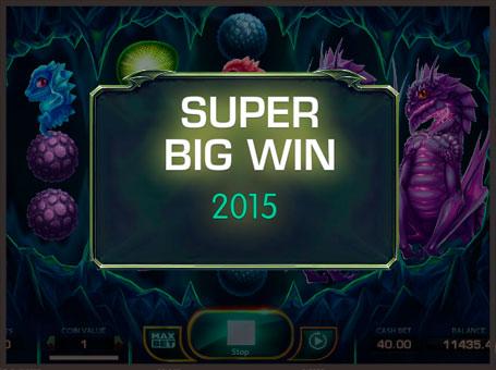 Супер виграш в автоматі Draglings