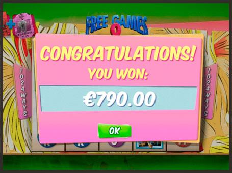 Виграш в серії фріспінів на онлайн автоматі Ace Ventura