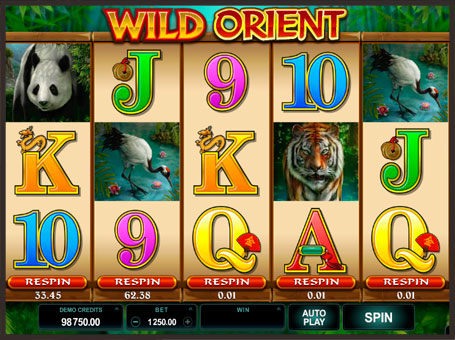 Комбінація символів в слоті Wild Orient