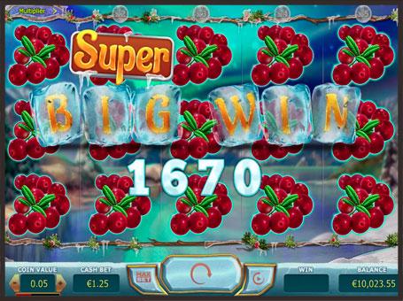 Супер великий виграш в ігровому автоматі Winterberries
